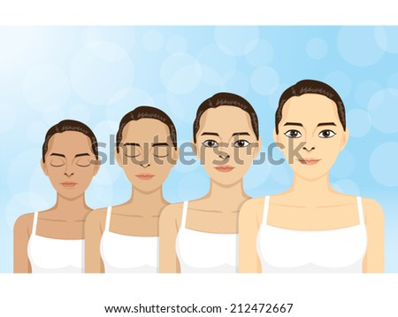 vector women in step skin
