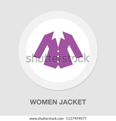 vector women jacket illustration. silhouette female suit - fashion wear design