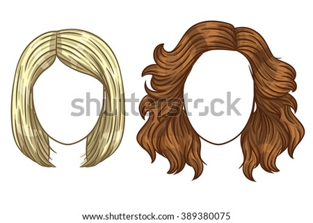 vector women's haircut