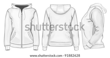 vector women's hooded
