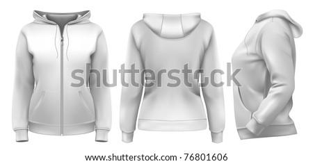 vector women's hoodie  front