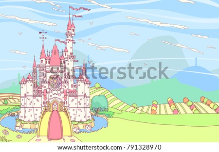 vector wonderland fairytale