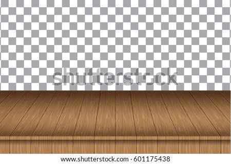 vector wood table top on...