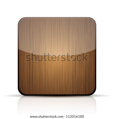 Apps Icons Vector Vector Wooden App Icon on