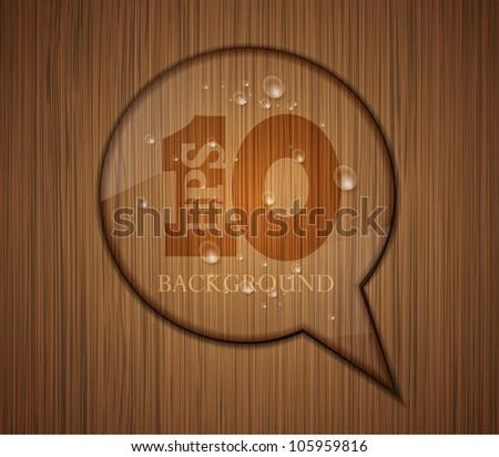 Vector wooden bubble speech. Business background design. Eps 10. Easy to edit