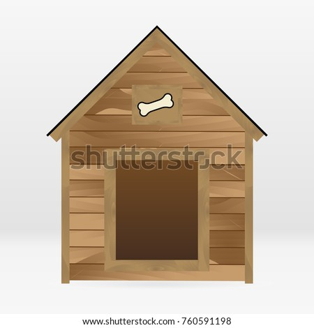 vector wooden dog house