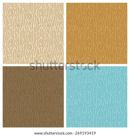 vector wooden seamless patterns