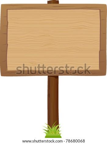 vector wooden signboard 2