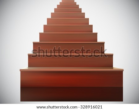 vector wooden stairs