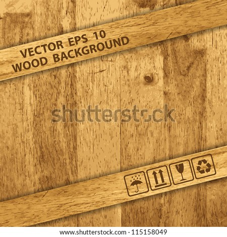 Vector Wooden texture background