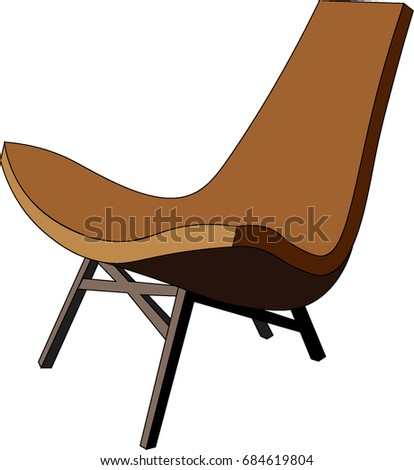 Vector wooden unusual chair