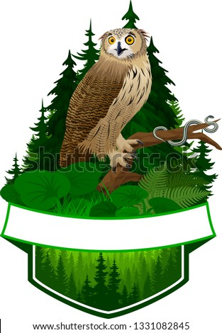 vector woodland emblem with