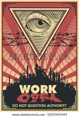 vector work propaganda poster