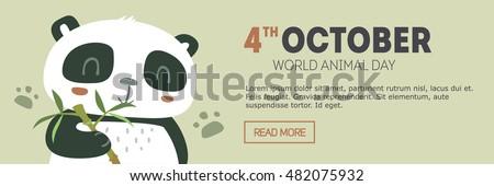 vector world animal day banner