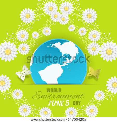 vector world environment day