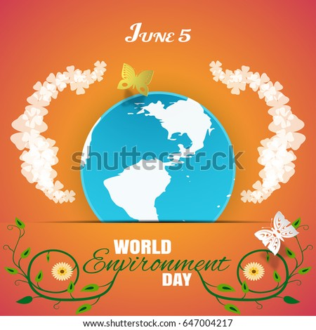 vector world environment day