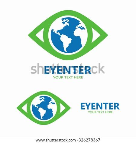 vector world eye logo