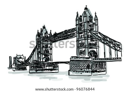 Vector World famous landmark collection : Bridge tower, London, England