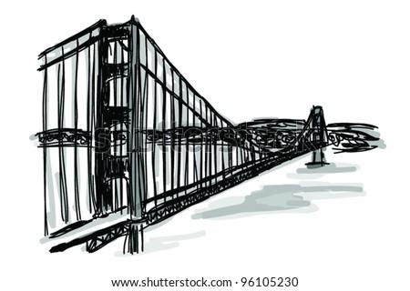 golden gate bridge coloring page - san francisco bay bridge coloring pages