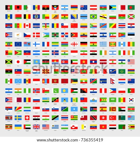 Vector world flags all in one. Country flags