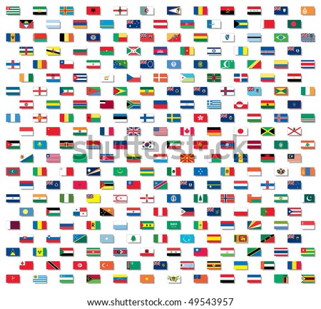 vector world flags with non