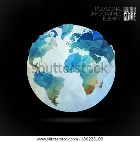 9 stylish vector world map vector download free vector art stock vector world globe 3d triangular map of the earth modern elements of info graphics gumiabroncs Image collections