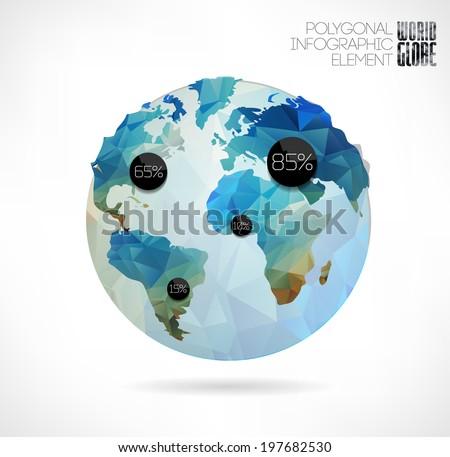vector world globe  3d