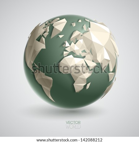 vector world globe illustration