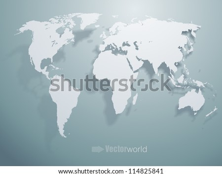 Vector world map - stock vector