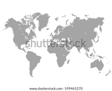 Vector world map #599465270