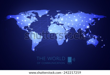 vector world map and