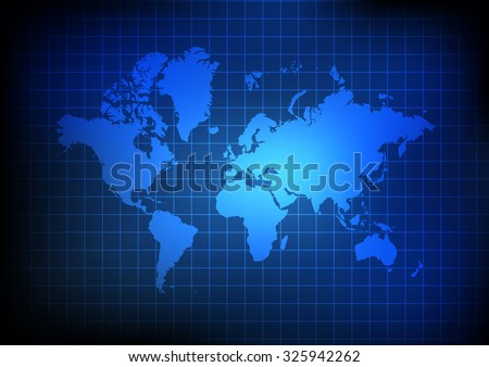 White globe grid vectors download free vector art stock graphics vector world map and grid on blue background gumiabroncs Image collections