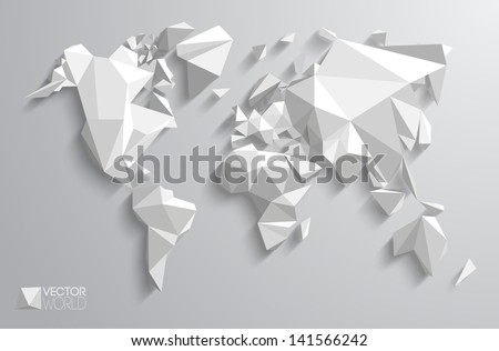 9 stylish vector world map vector download free vector art stock vector world map design triangle pattern continents with vector shadows gumiabroncs Image collections