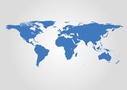 Vector World Map. High detail illustration.