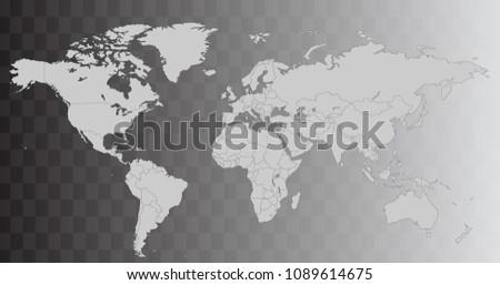 Worldmap conjunto de vectores descargue grficos y vectores gratis vector world map illustration isolated over transparent background flat globe earth template world gumiabroncs Images