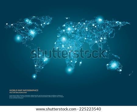 vector world map illustration