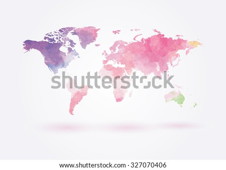 Free watercolor world map vector download free vector art stock vector world map in watercolor style gumiabroncs Images