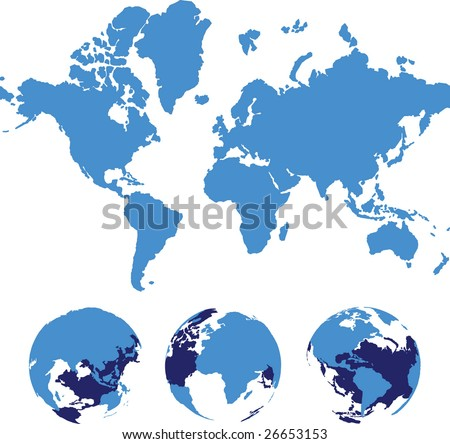vector world map isolated over