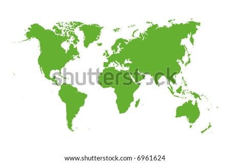 world map vector image. stock vector : Vector world