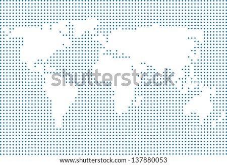 World map made with dots download free vector art stock graphics vector world map made of dots modern page layout concept gumiabroncs Image collections