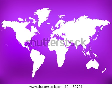 vector world map  purple