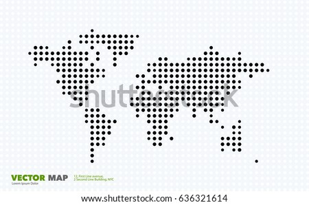vector world map template with
