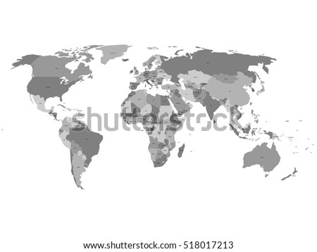 World countries map vector download free vector art stock vector world map with labels of sovereign countries and larger dependent territories every state is gumiabroncs