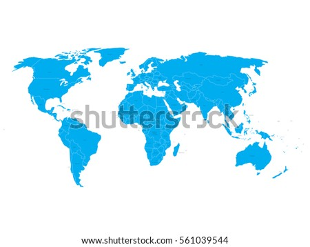Worldmap silhouette free vector download free vector art stock vector world map with state name labels blue land with black text on white background gumiabroncs Gallery