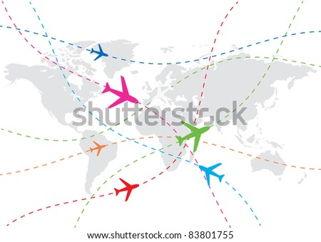 vector world travel map