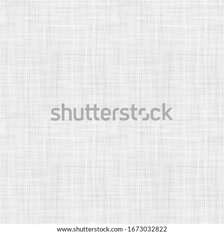Vector woven fabric texture. Seamless pattern of textile. Repeating linen texture in light gray colors.