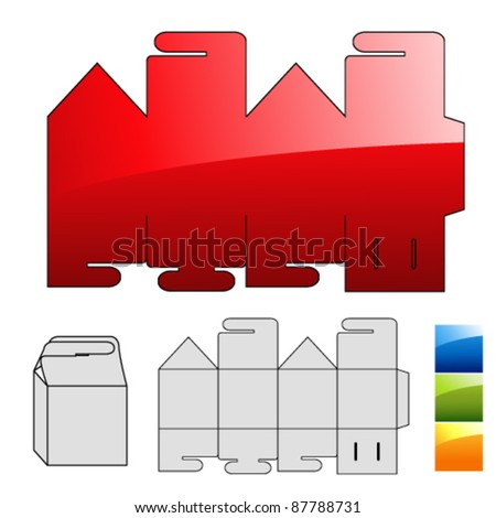 Vector wrap puzzle template for box