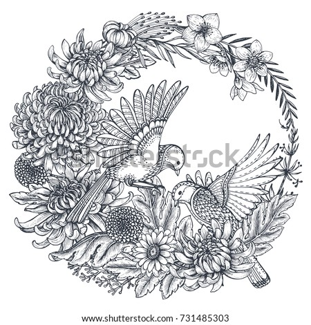 vector wreath with black and
