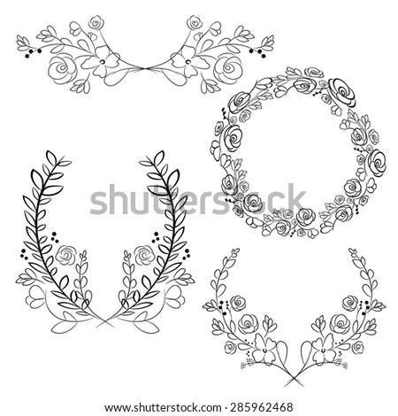 vector wreaths and laurel