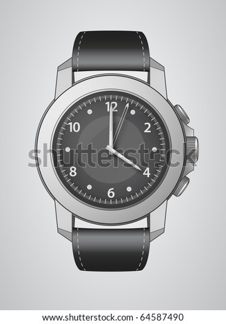 Vector Wrist Watch Illustration